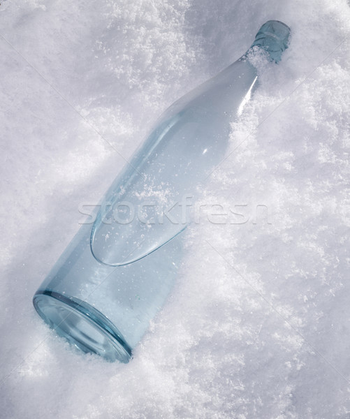 Garrafa neve branco Foto stock © crisp
