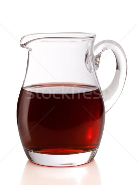 Jarro vinho vinho tinto isolado branco vidro Foto stock © crisp