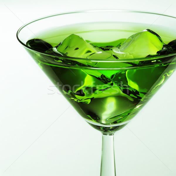 Yeşil kokteyl cam sıvı bira restoran Stok fotoğraf © crisp