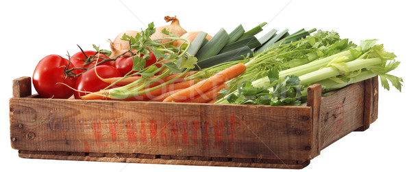 Crate of healthy vegetables Stock photo © crisp