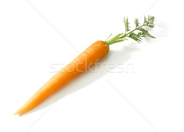 Cenoura fresco branco fundo vegetal solo Foto stock © crisp