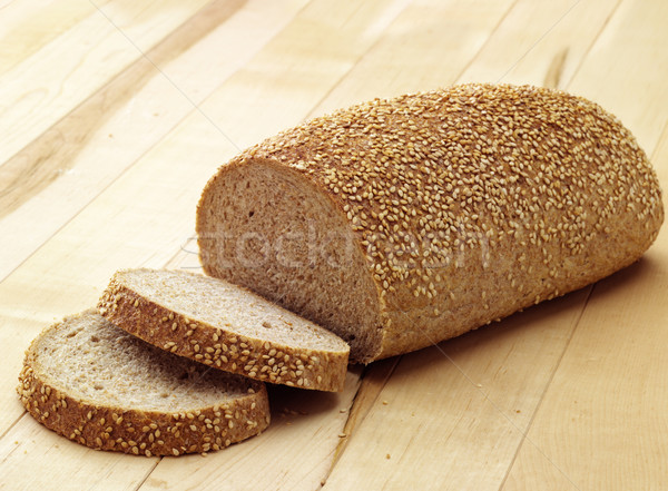 Pão gergelim luz dois fatias Foto stock © crisp