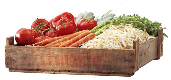 Diğer sebze ahşap yeşil sağlıklı Stok fotoğraf © crisp