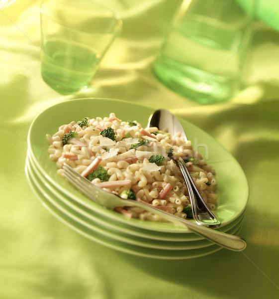 пластин пасты зеленый обед растительное Сток-фото © crisp