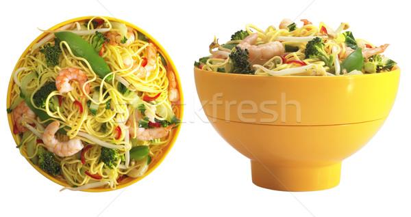 Camarão dois diferente tigela refeição comida Foto stock © crisp