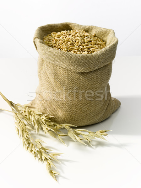 çuval bezi çanta tahıl tahıl buğday gıda Stok fotoğraf © crisp