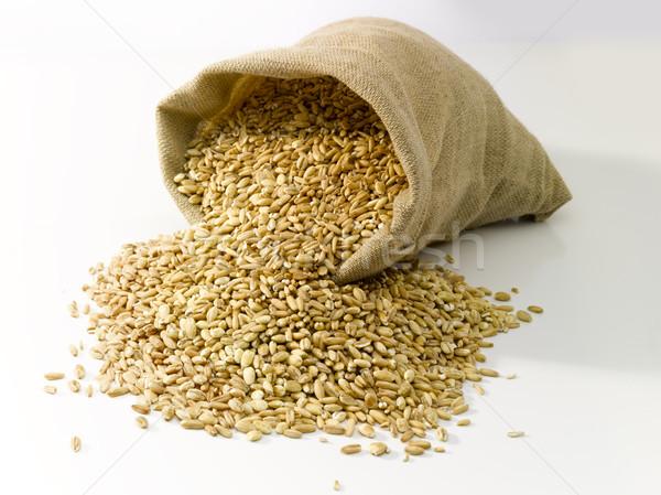 сумку пшеницы брезент продовольствие природы сельского хозяйства Сток-фото © crisp