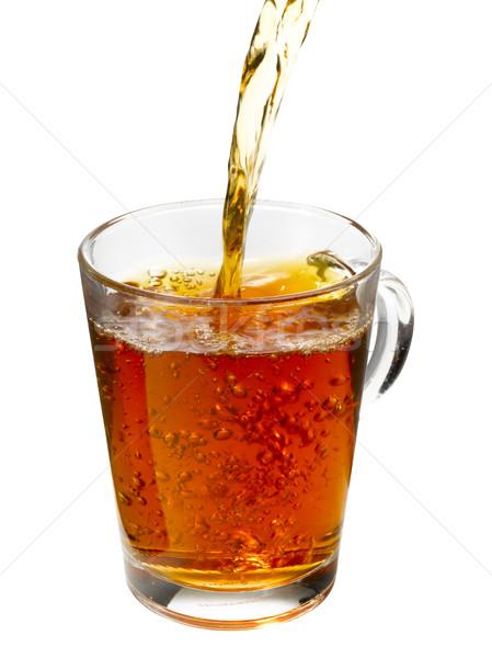чай потока падение Кубок пузырьки Сток-фото © crisp