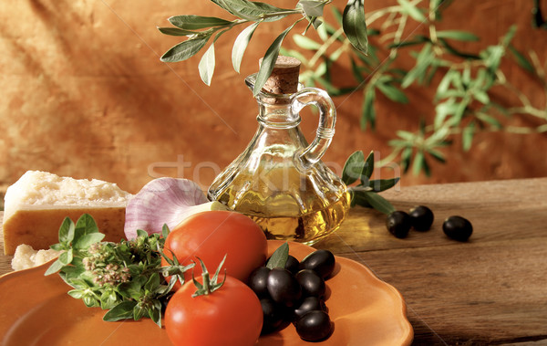 Italiano mediterrânico saudável ingredientes tradicional cozinha Foto stock © crisp