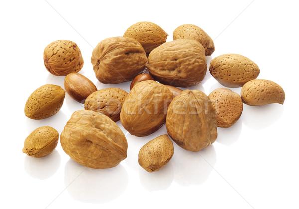 гайка орехи белый продовольствие семени Сток-фото © crisp