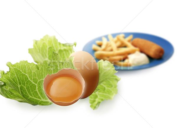 Marul yumurta yumurta mükemmel bileşen Stok fotoğraf © crisp