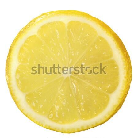 Limon yarım yalıtılmış beyaz doğa meyve Stok fotoğraf © crisp