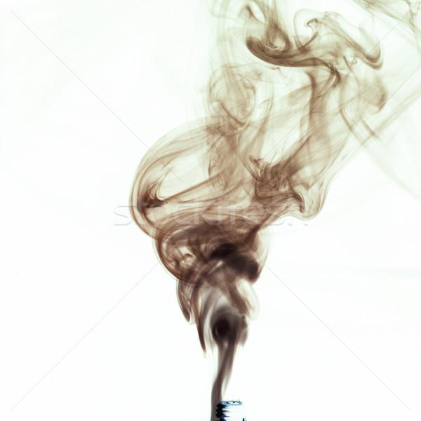 дым черный белый огня аннотация свет Сток-фото © crisp