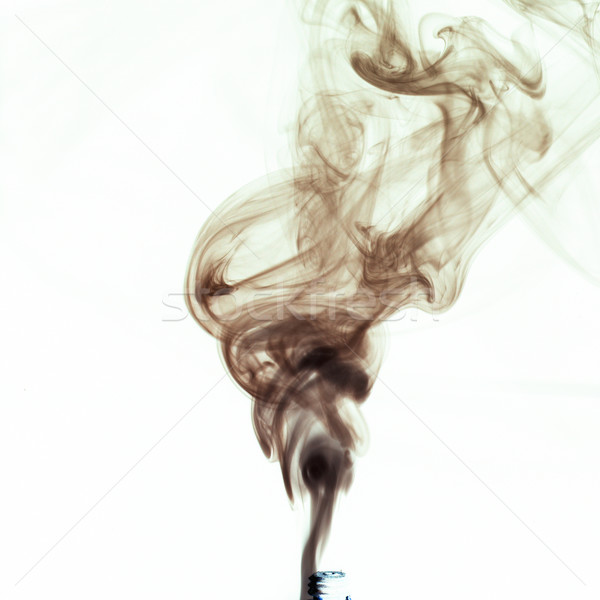Fumar preto branco fogo abstrato luz Foto stock © crisp