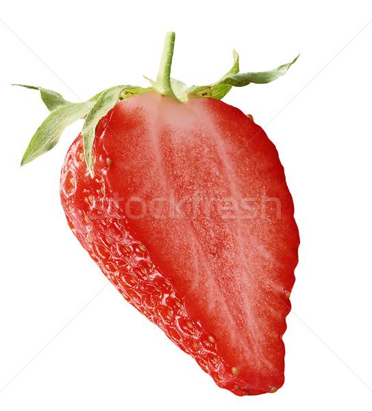 Morango metade isolado branco natureza fruto Foto stock © crisp