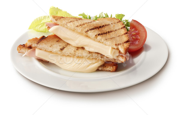 Tost tost jambon peynir sandviç domates Stok fotoğraf © crisp