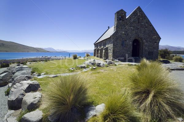 Pequeno igreja bom ver lago lado Foto stock © crisp