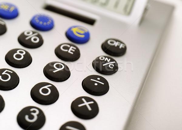 Calculadora números secretária tela ajudar Foto stock © crisp