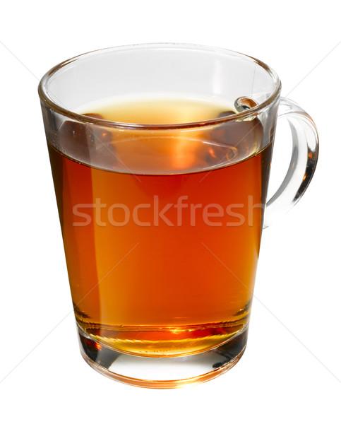 Fincan çay yalıtılmış beyaz cam Stok fotoğraf © crisp