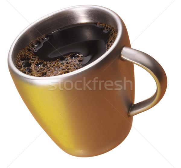 кофе Кубок металл жидкость Сток-фото © crisp
