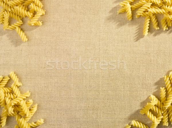 Macarrão lado menu textura fundo spiralis Foto stock © crisp