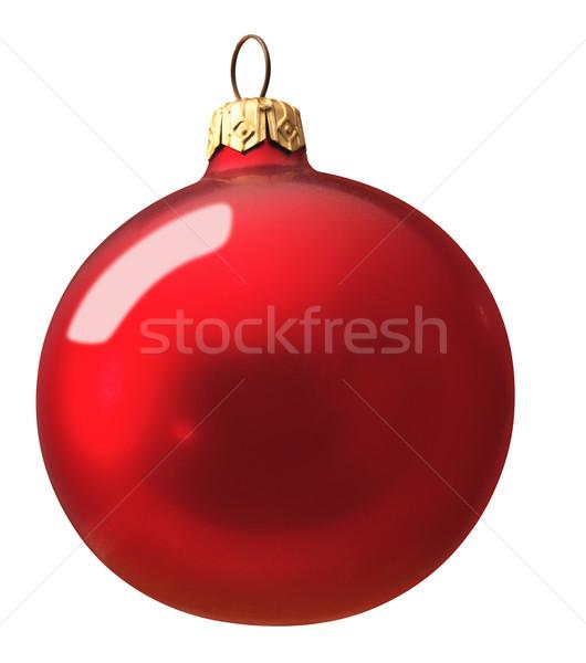 Kırmızı Noel top beyaz kış dekorasyon Stok fotoğraf © crisp