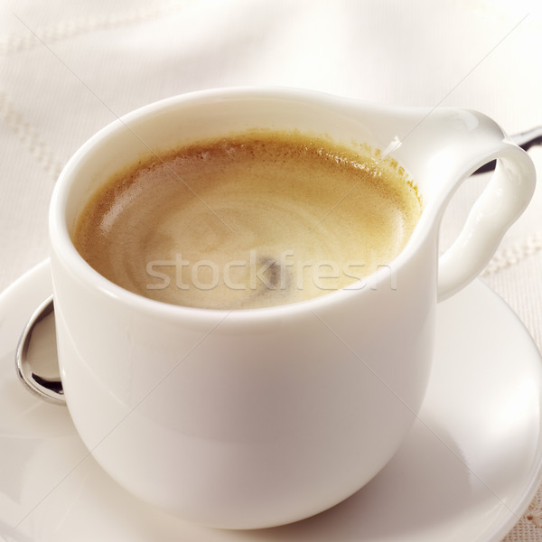 Espresso beyaz fincan güzel köpük Stok fotoğraf © crisp