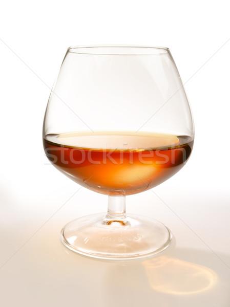 Verre cognac lumière environnement boire alcool Photo stock © crisp