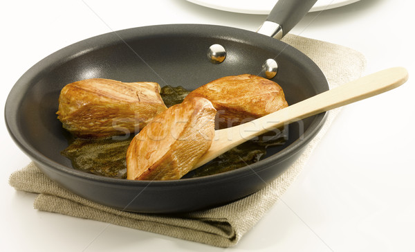 Chicken an a non stick pan Stock photo © crisp