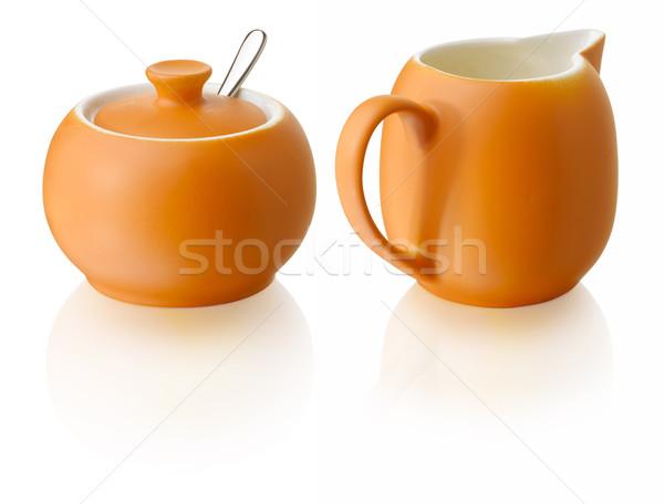 Süt şeker turuncu sofra takımı dizayn Stok fotoğraf © crisp