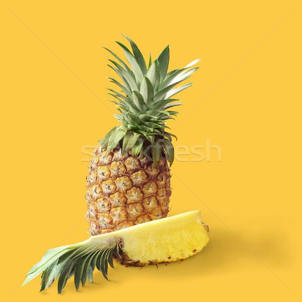 ананаса текстуры фрукты здоровья фон обои Сток-фото © crisp