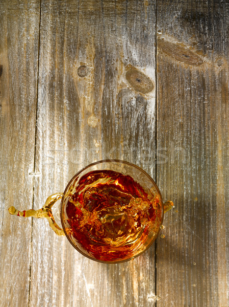 Splash of whiskey Stock photo © crisp