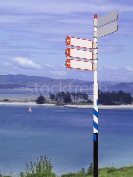 Sokak işareti manzara imza güneş ışığı yol sanayi Stok fotoğraf © crisp