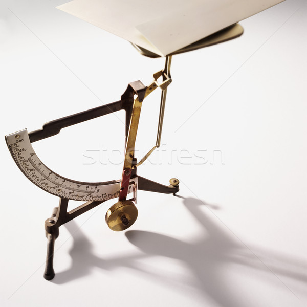 Stock photo: antique Letterbalance with letter