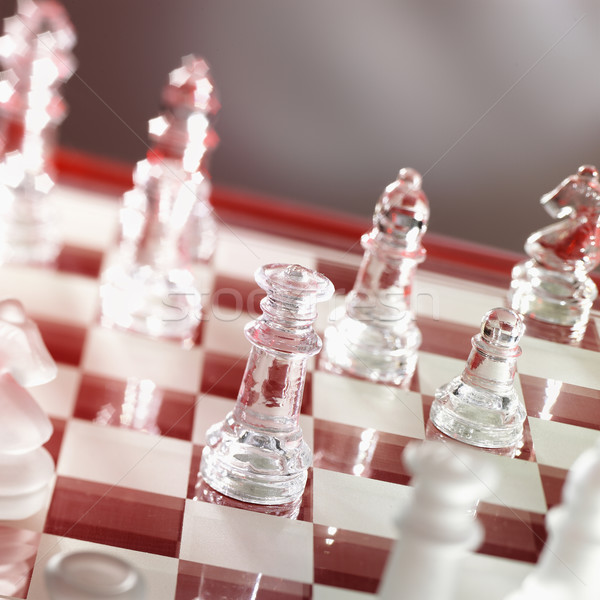 chess game in warm red Stock photo © crisp