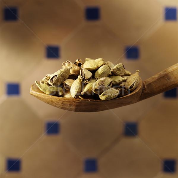 кардамон ложку сильный семян Сток-фото © crisp