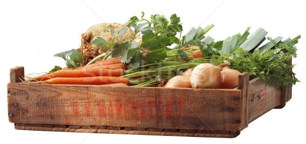 Sebze yeşil pazar havuç sağlıklı Stok fotoğraf © crisp