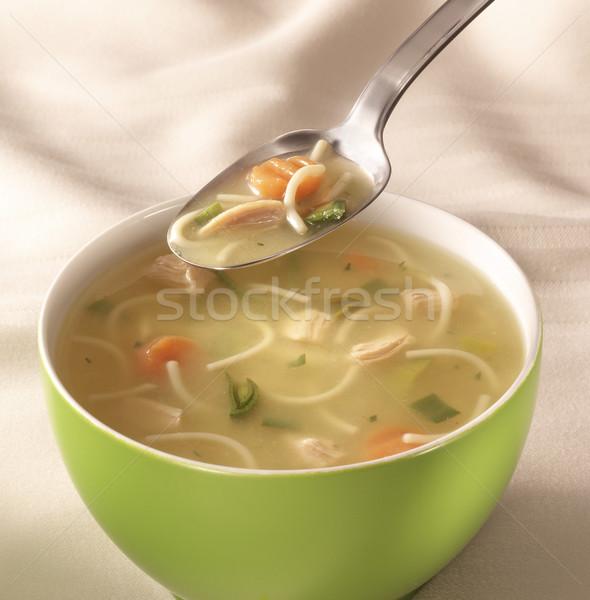çanak çorba tablo kaşık üzerinde Stok fotoğraf © crisp