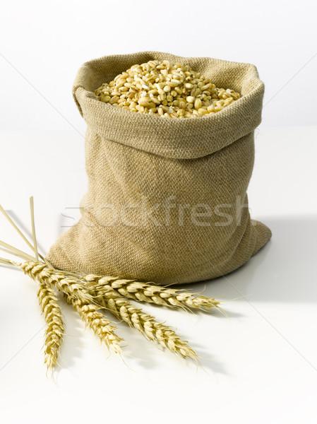 çanta tahıl çuval bezi buğday gıda doğa Stok fotoğraf © crisp
