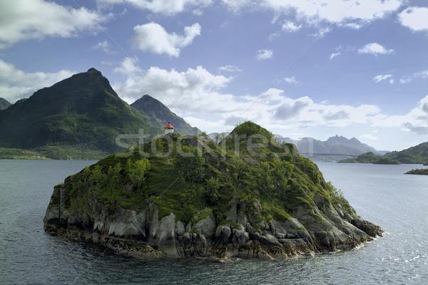 острове подобно природы выстрел Норвегия дерево Сток-фото © crisp