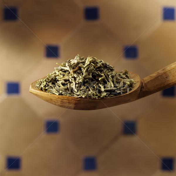 петрушка ложку продовольствие лист здоровья листьев Сток-фото © crisp