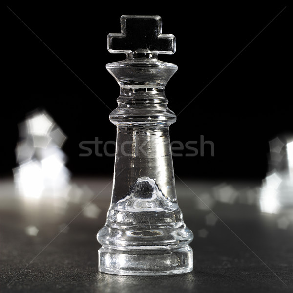 Kral satranç cam satranç kral karanlık siyah Stok fotoğraf © crisp
