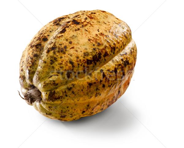 Kakao fasulye yalıtılmış beyaz meyve bitki Stok fotoğraf © crisp