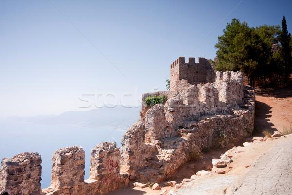 Part of fortress -Alanya Turkey Stock photo © csakisti