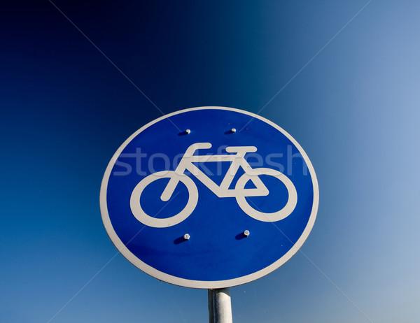Bike lane traffic sign  Stock photo © csakisti
