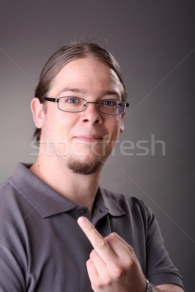 giving the middle finger Stock photo © csakisti