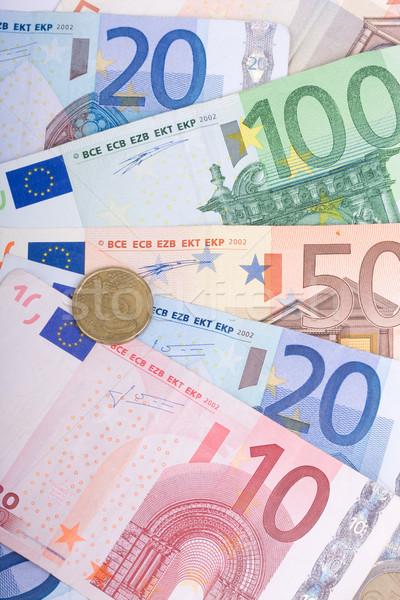 Euros tabela negócio papel financiar euro Foto stock © csakisti
