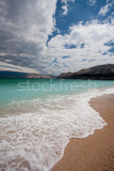 stormy sea, Croatia, Baska  Stock photo © csakisti