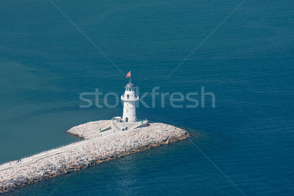 Lighthouse in port -Alanya Stock photo © csakisti