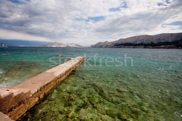 Pier in Baska, Croatia Stock photo © csakisti